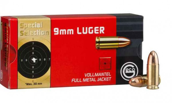 GECO 9mm Luger 124grs. FMJ Special Selection 50 Stück